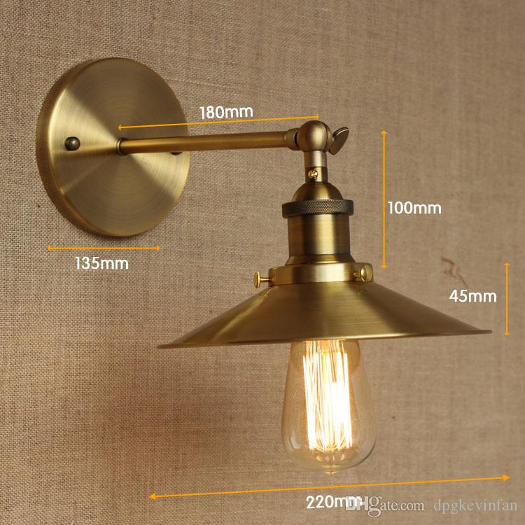 Vintage Wall Led Lamp Loft Antique Swing Long Arm lights Classic Sconce for Home Indoor Bedside Up Down Bed Reading Retro