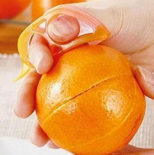 マウスタイプの形状プラスチック家庭用品創造的なオレンジ色の皮デバイス送料無料