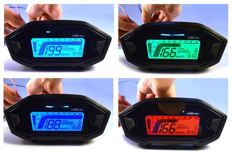 Universal Atv Motorcycle Lcd Digital Speedometer For 2 4