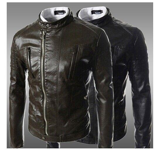 Cheap Best Men Outerwear Men Pu Leather Jackets Men Waist ...