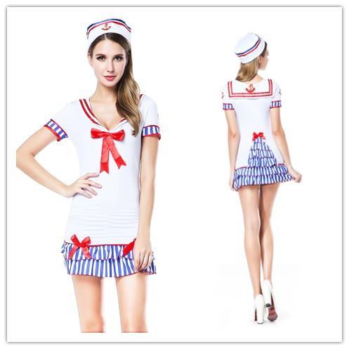 cosplay sailor sexy adult costumes for women maid sailor pin up costume sailor dress headpiece outfit sm8833 - Pin Up Girl Halloween Costumes 2017