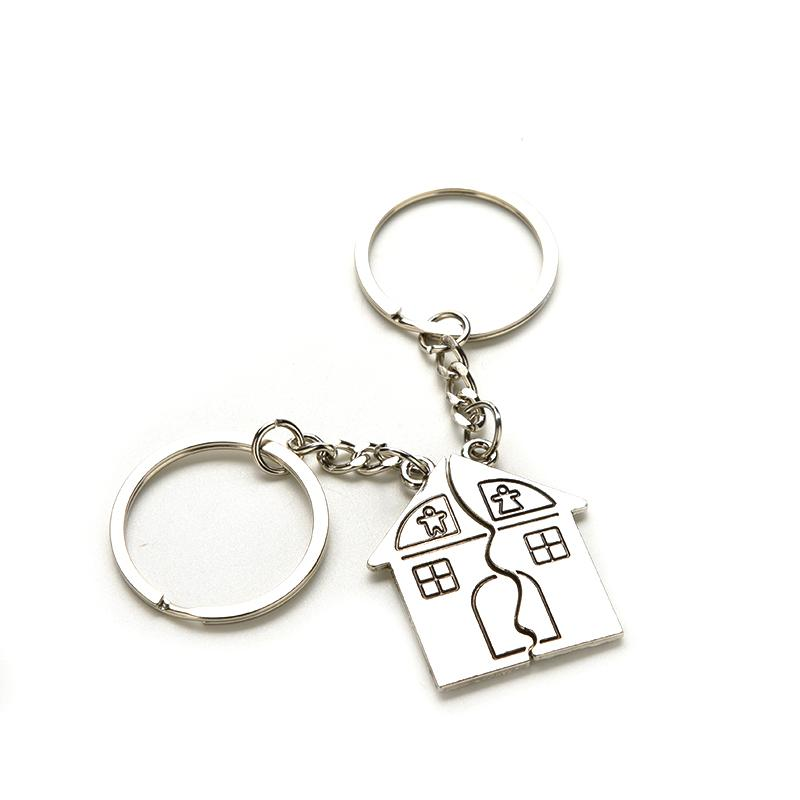 New Couple I Love You Lovers Keychain Warm House Type Key Ring Souvenirs  Valentine S Day Gifts Built With Love Home Alloy Keychain Make Your Own  Keychain ... d96e395bf