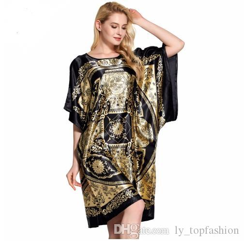 Compre Ropa De Dormir Robe Pijama Mujer Robe Ropa De Dormir Femenina Ropa  De Casa Albornoz Camisón Camisones Camisón Vestido Sexy Lencería Sexy A   24.11 Del ... 45d33638d7a4