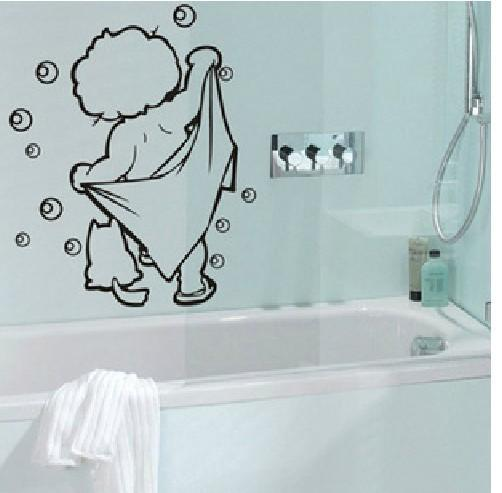 Lovely Baby Love Shower Wall Stickers Bathroom Glass Door Stickers Cute  Children Shower Sticker Waterproof Wall Decor Vinyl Wall Decoration Decals  From ...