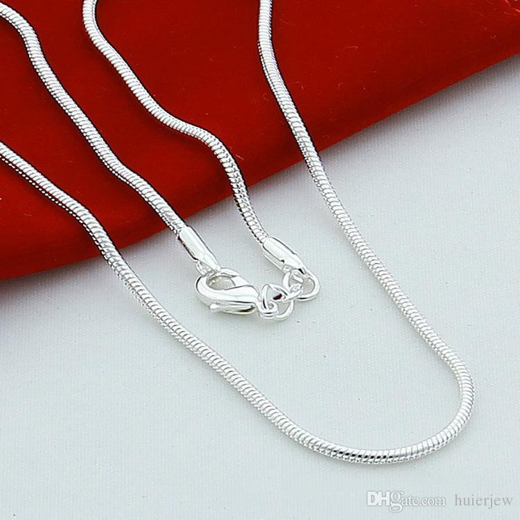 zincirleri Gümüş 925 kadın erkekler halat zincirleri toptan ucuz kaliteli takı 925 gümüş kaplama zincirler Salkım