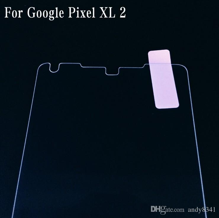 Para Google Pixel 2 XL Cristal templado incluido Kit de limpieza 2.5D Pixel 2 Edge Arc 9H Espesor 0.33 mm