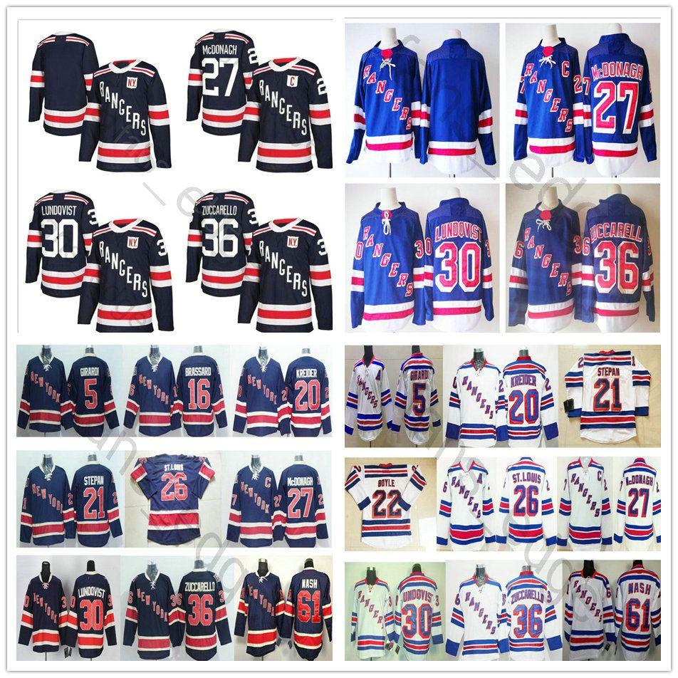 reputable site f10db df15d 2018 New Season New York Rangers Winter Classic Hockey Jerseys #27 Ryan  McDonagh 36 Mats Zuccarello 61 Rick Nash 30 Henrik Lundqvist Jersey