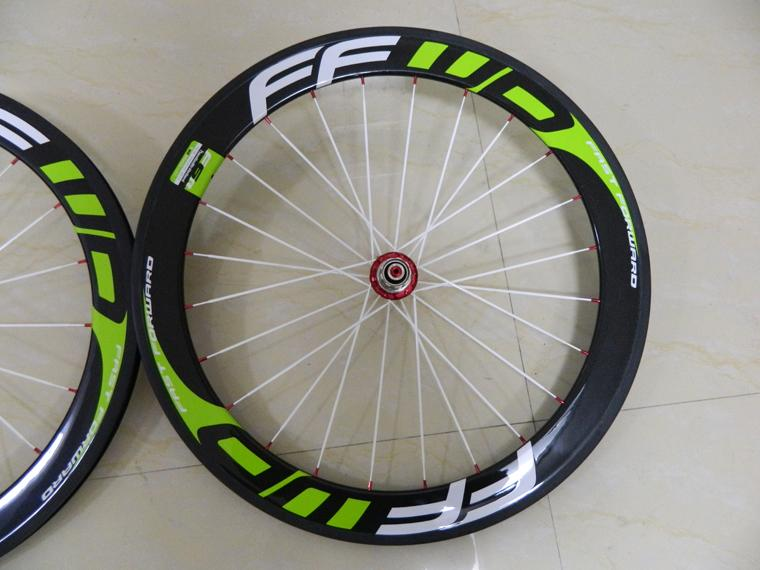 60m FFWD Full Carbon Tubular clicncher Type Road racing Wheelset Powerway hubs R13 carbon wheels clincher