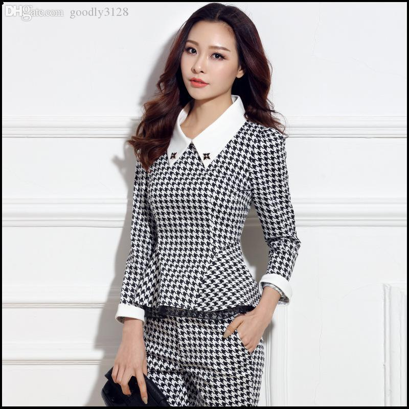Online Cheap Wholesale Women Casual Pant Suits 2015 Formal Office ...
