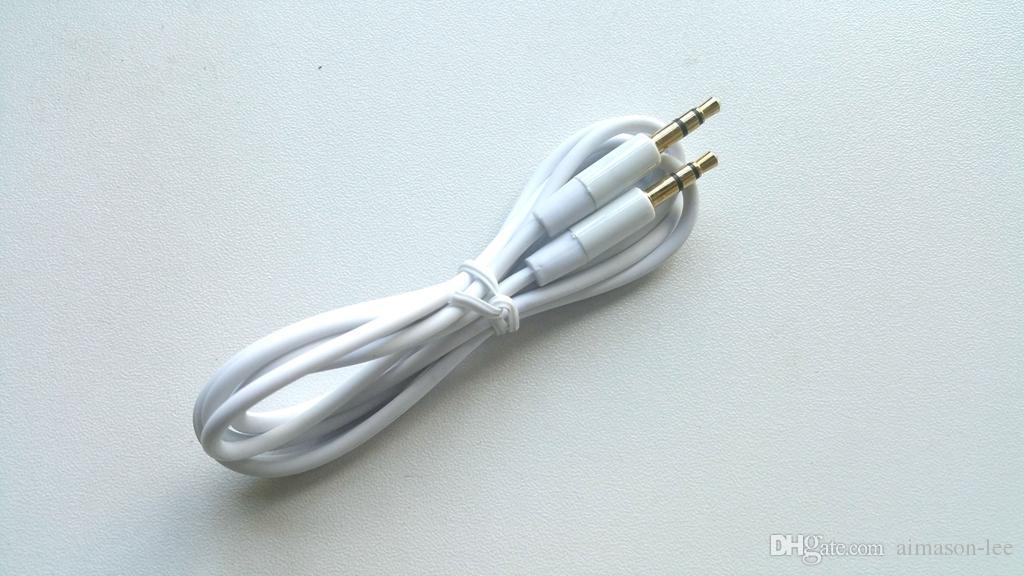 Banhado a ouro de 3.5mm macho para macho 1.2 m / 4ft cabo aux áudio do carro 100 + via dhl