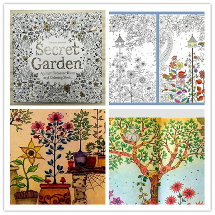 Secret Garden Coloring Book Ing High Copy Adult Children Relax Relieve Stress Kill Time Graffiti Painting Free Printable