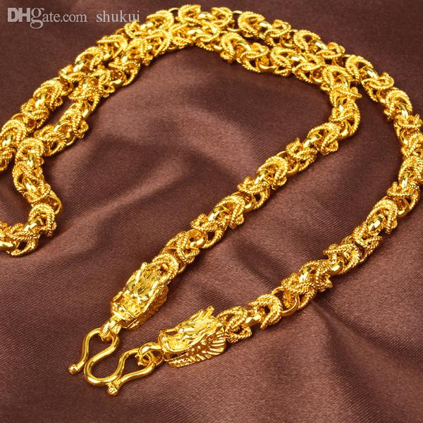 Wholesale24K Goldplated Jewelry Chain Men Domineering Leader