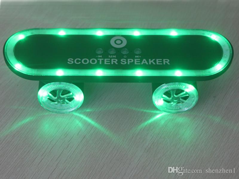 Portable Scooter Speakers With LED Bluetooth Mini TF U Disk Slot FM Radio MP3 MP4 Wireless Hifi Music Players DHL Free MIS124