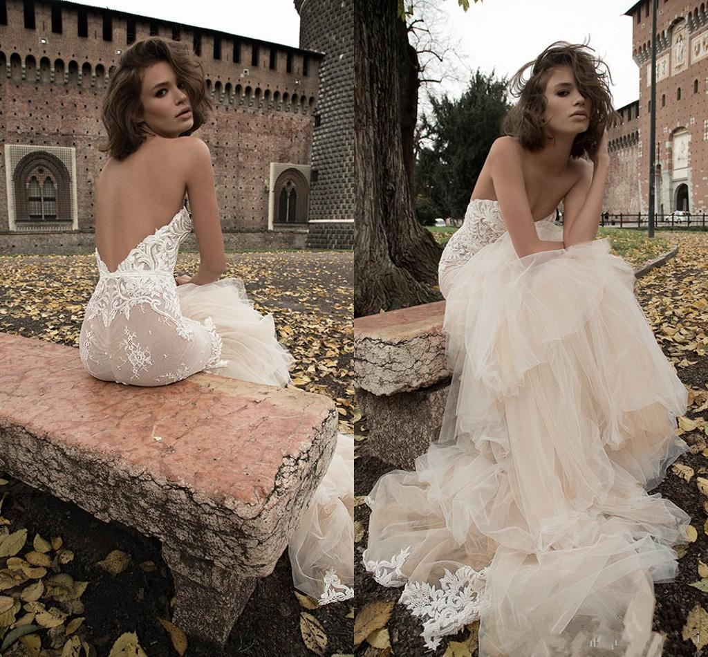 Trumpet Style Wedding Gowns: Unique Trumpet Style Wedding Dress Backless Sweetheart