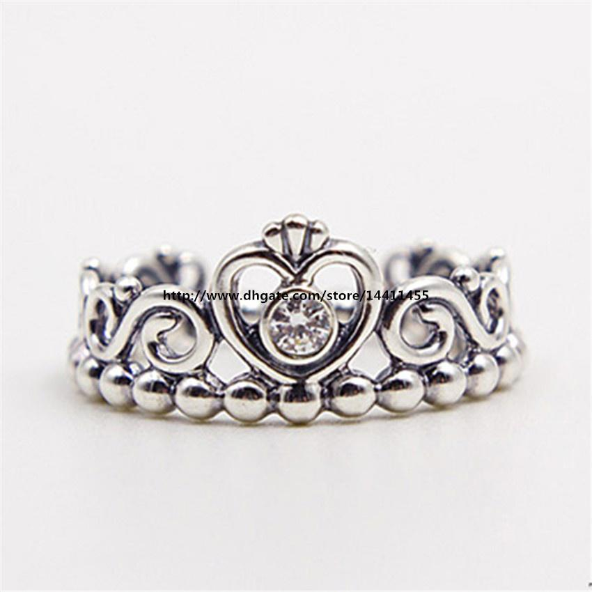 066fe24a1 ... My Princess with Clear CZ Ring Princess Crown Ring Amazon Fashion  Jewelry Women Ring European Style Charm Ring High-quality 100% 925 Sterling  Silver ...