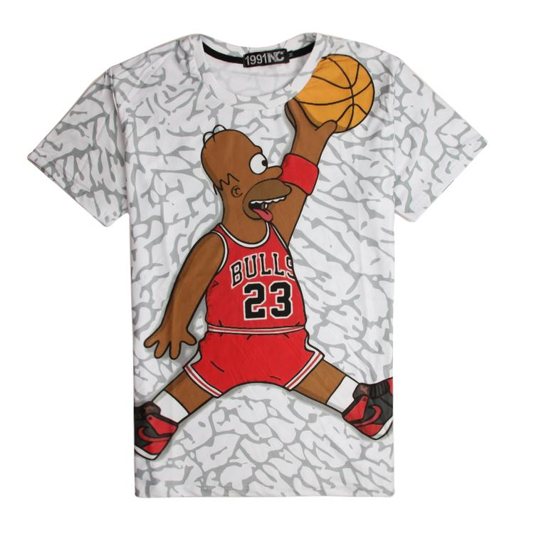 Simpsons t shirt simpson playing baskball 3d funny t for Simpsons t shirts online