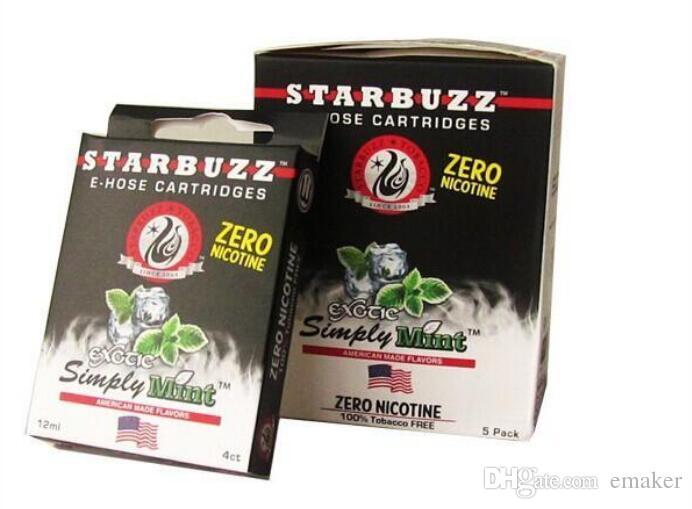 HEISSER Verkauf Starbuzz E Schlauchpatronen nachfüllbarer Schlauchzerstäuber des multi Aroma-E verschieden für Starbuzz ehose Mod Satz 6 Aromen