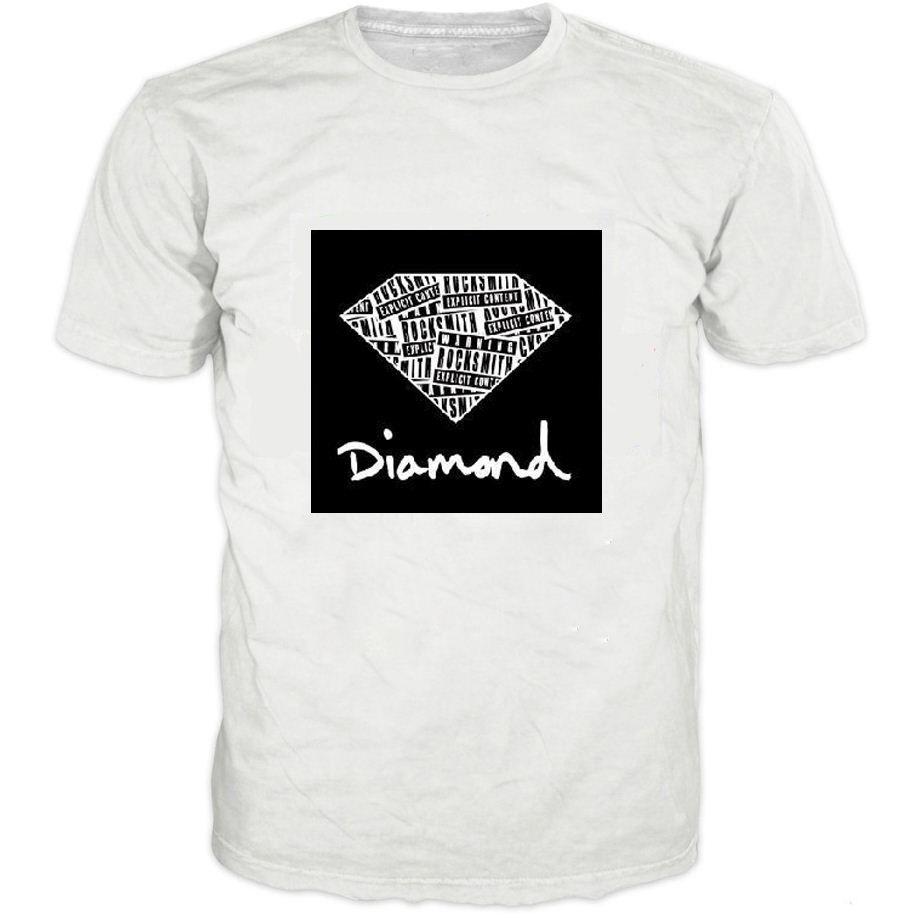 Women Men Summer Fashion Diamond Supply Co Men T Shirts Tshirt Casual Brand T  Shirt Parental Advisory Explicit Content Tops Tees Designer White Tee Shirts  ... 45b2cf3aeaab