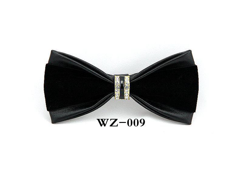 tapa-up arco homens laço luxo PU bowtie diamante festa de casamento borboleta presente do negócio para mulheres dos homens jantar gravata azul vermelho