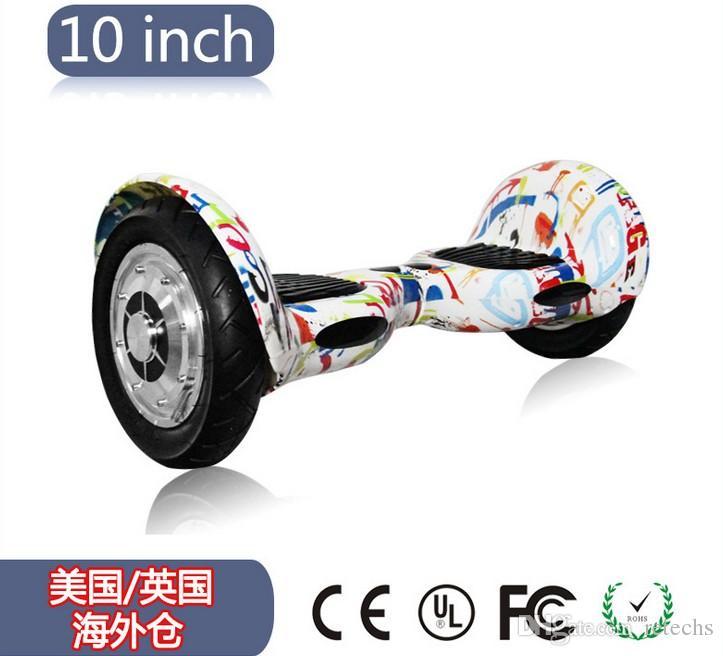 سكوتر الكروم LED RGB الكهربائية hoverboard الرصيد الذاتي سكوتر 10 بوصة سامسونج بطارية 4.4a سحب عجلة سكوتر الكهربائية مع الاطارات الهوائية