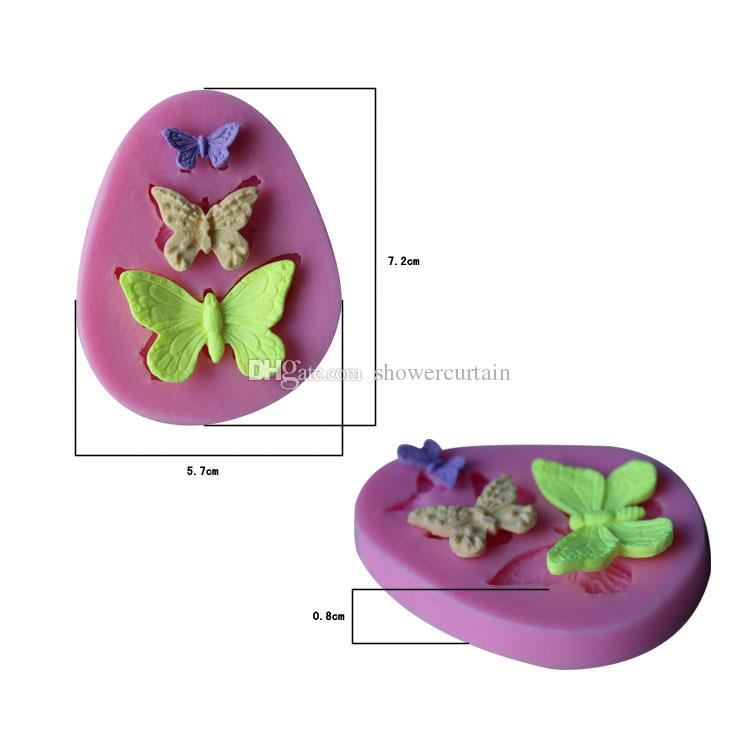 Beautiful Butterfly Decorative Cake Mould Silicone Easy Clean 3D Candy Pastry Mould Chocolate Mold Baking Mould