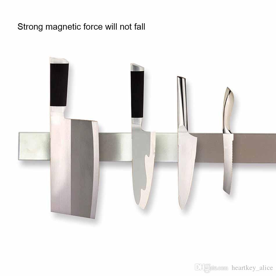 Premium 16 Inch Stainless Steel Magnetic Knife Holder seat Professional Magnetic Strip Space-Saving Rack Knife Bar Powerful Magnetic