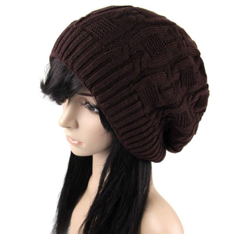 Prix le plus bas ! Mode Hiver Femmes Bonnets Chaud Tricot Chapeaux Modèle Triangulaire Vente Chaude Couple Casquettes /