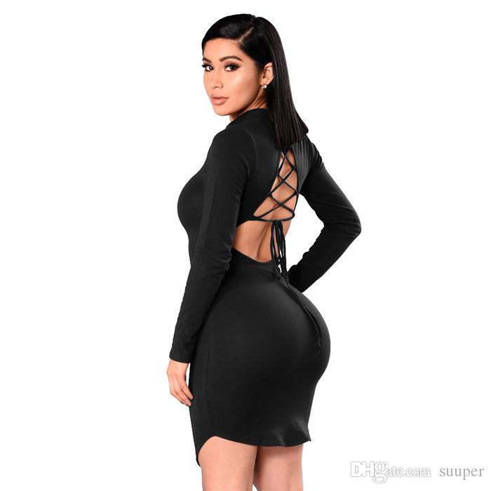 099420dc9a Sexy Back Lace Up Bandage Bodycon Party Dress Women 2017 Brief ...
