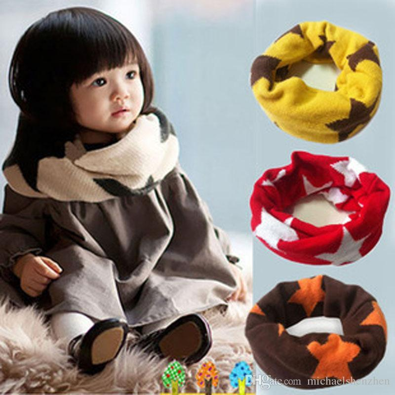 Children fashion Candy color scarf 2015 new boy girl Korean fashion Stars Candy color Pure cotton scarf B001