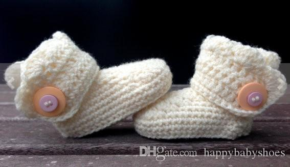 New infant shoes 2015 Comfortable Hand Knitted Crochet baby flower ballet shoes handmade infant booties toddler shoes 0-12M cotton
