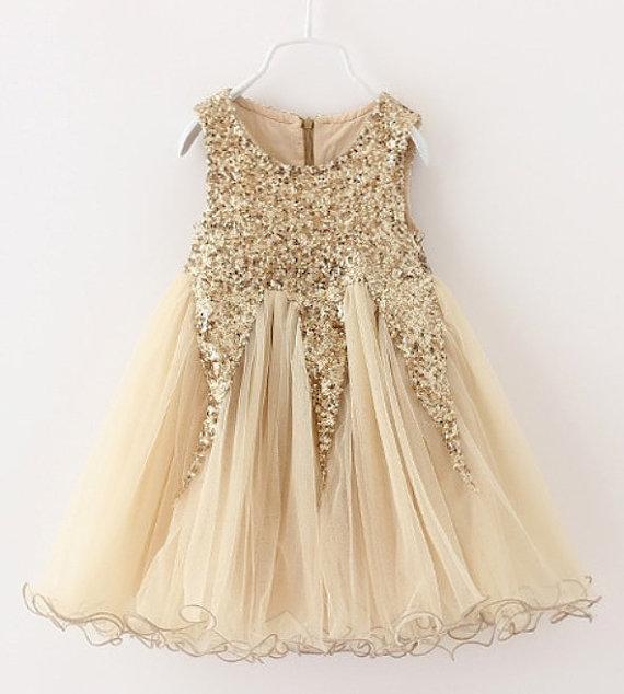 Glitter Flower Girl Dress