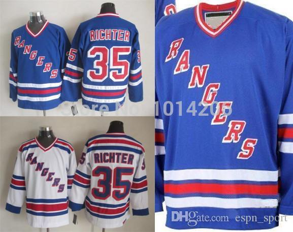 a6aa68bec67 ... 2017 2015 Ny New York Rangers Mike Richter Jersey Ccm Vintage Hockey  Jersey Alumni Blue White ...