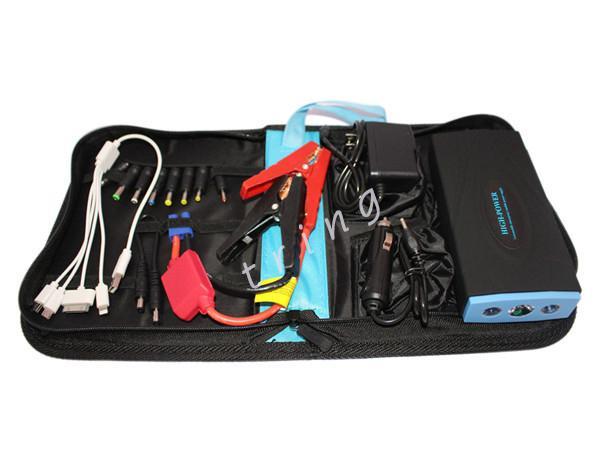 Alta qualità 38000mAh Car Jump Starter multi-funzione Portatile 12V Benzina / Diesel Auto Avvia Power Phone Charger Power Bank Battery Pack