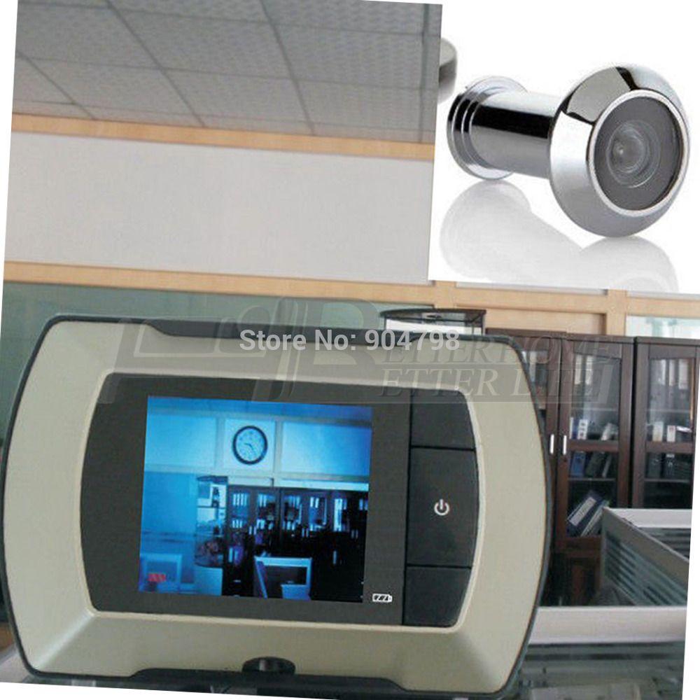 2.4 Lcd Visual Monitor Door Peephole Peep Hole Wireless Viewer ...