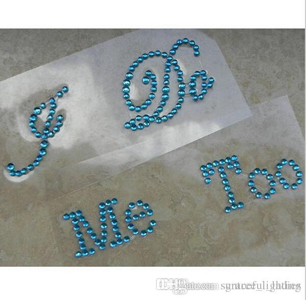 """Silver Crystal Wedding Shoe Stickers """"I DO & ME TOO"""" Bridal Accessories Sandal Sole Stickers Clear Rhinestones Decoration"""