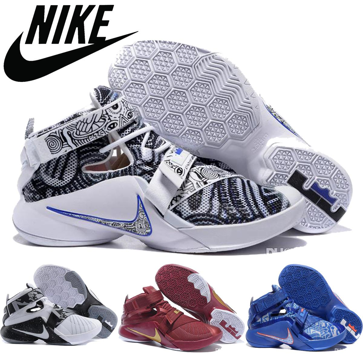 2fee21dbf7c6 ... 50% off nike lebron soldier 9 ix basketball shoes for men quai54 black  what the