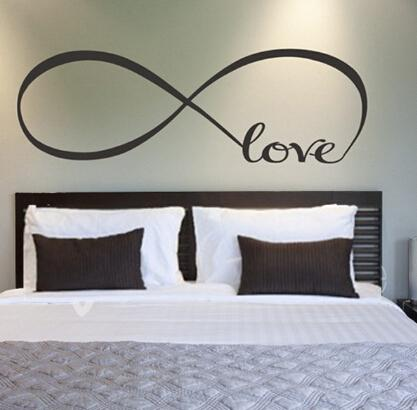 big love large infinity symbol bedroom wall decal love bedroom decor