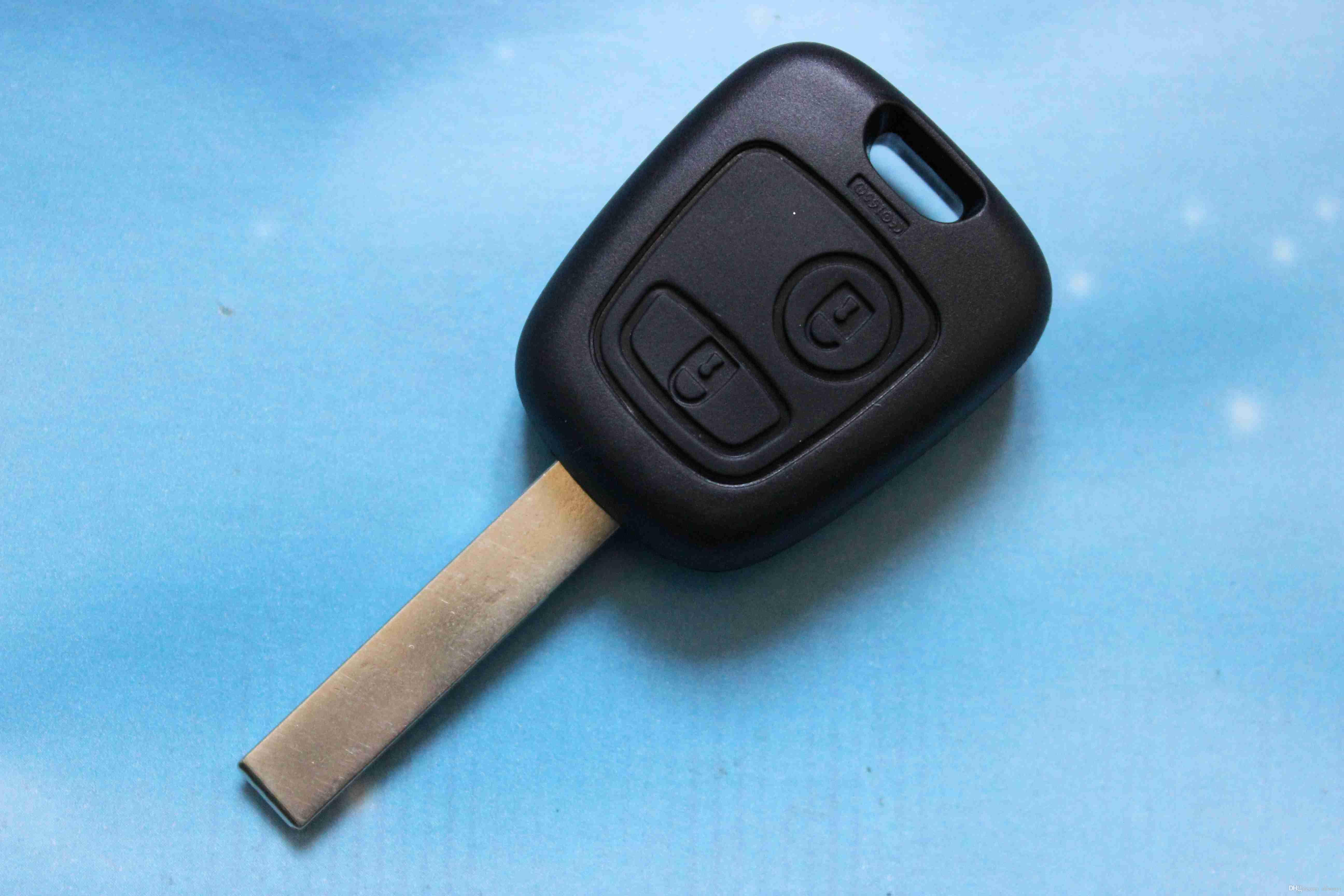Car Key Cover 2 Buttons Remote Key Shell Replacement Blank Fit For