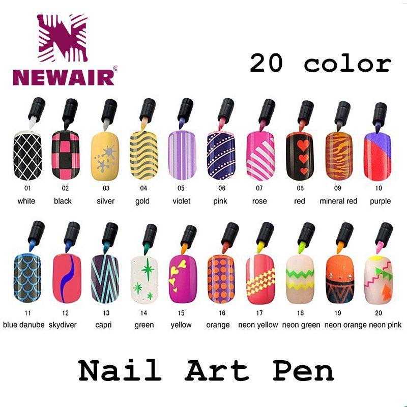 Wholesale Nail Art Pens Colorful Polish Pen Gel Polish Painting ...