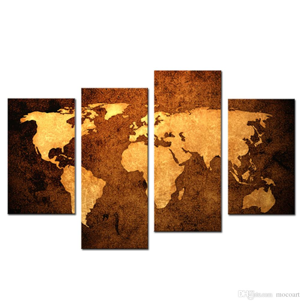 old map wall art painting print on canvas the picture murals