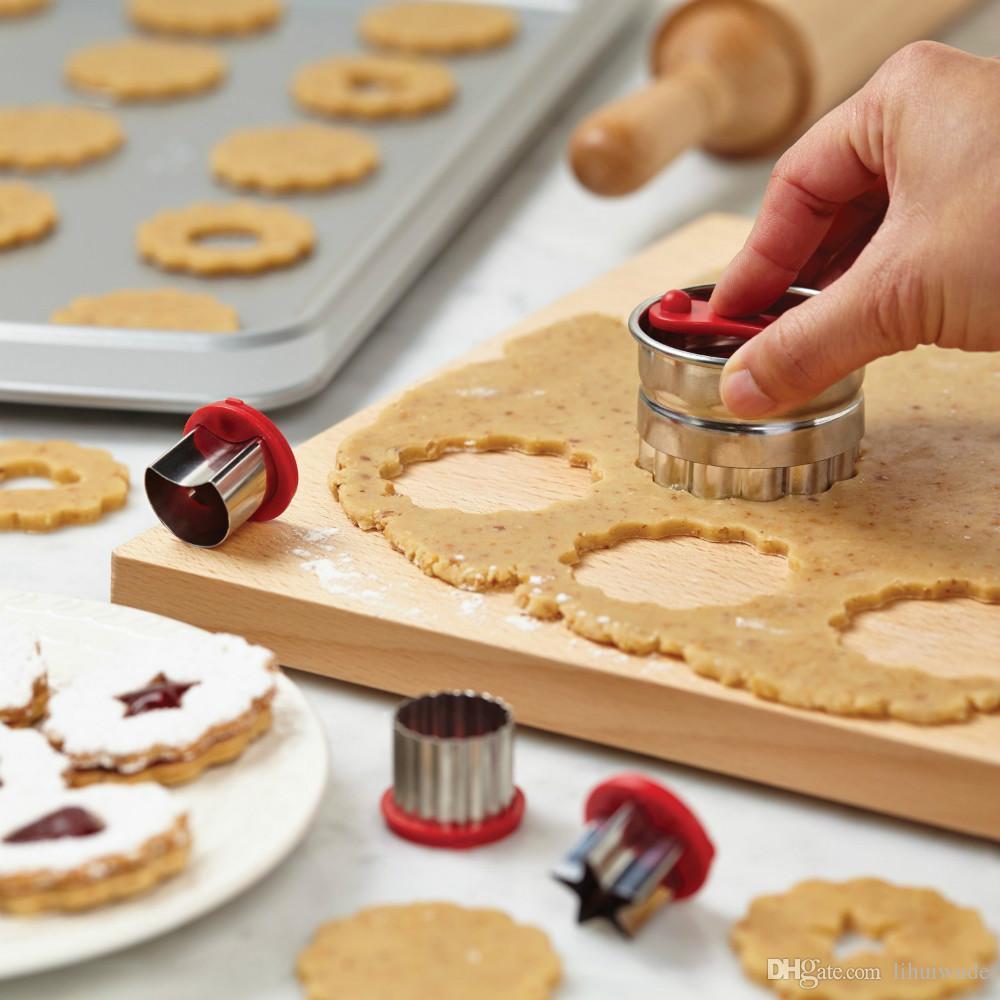 Juego de cortador de galletas Linzer Classic de 6 piezas, colorido,