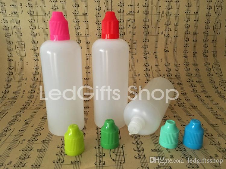 Hohe Qualität schnelle Lieferung 120ml Kunststoff-Flaschen leeren E Flüssigkunststoff Tropfflaschen mit Kind Proof Flaschenverschlüsse und Nadelspitzen