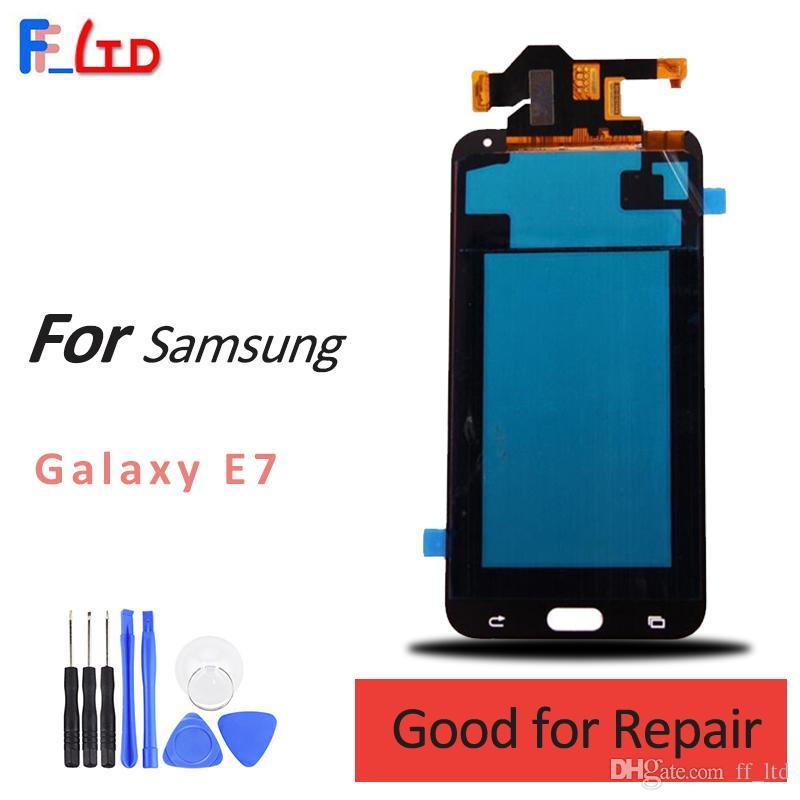 Samsung galaxy e7 e700 e700f için süper amoled hd lcd ekran digitizer ekran meclisi değiştirme ile dokunmatik 100% test 2 yıl garanti