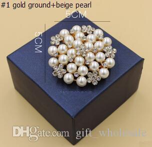 Korean New Fashion Style Brooches Multi-beads Pins Bridesmaid Flower Girl Wedding Pearl Rhinestone for choices