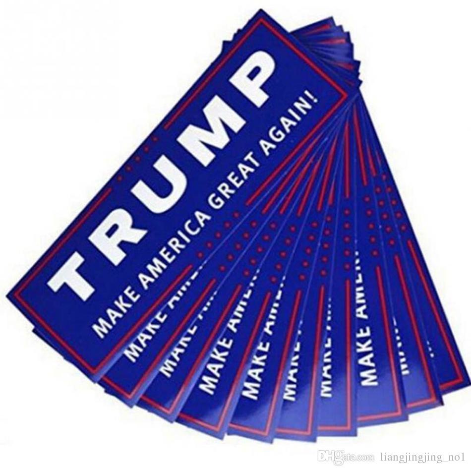 Etiquetas azuis do carro do trunfo da eleição presidencial dos EU 23 * 7.6cm Autocolantes no vidro traseiro do carro com rotulação Donald Trump Presidente Adesivos OOA3551