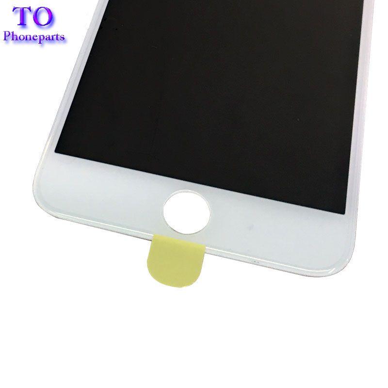 4 в 1 Экран холодного отжима Наружное стекло с рамкой ОСА + поляризатор для iPhone 7 6 6s плюс 5 5s Замена экрана