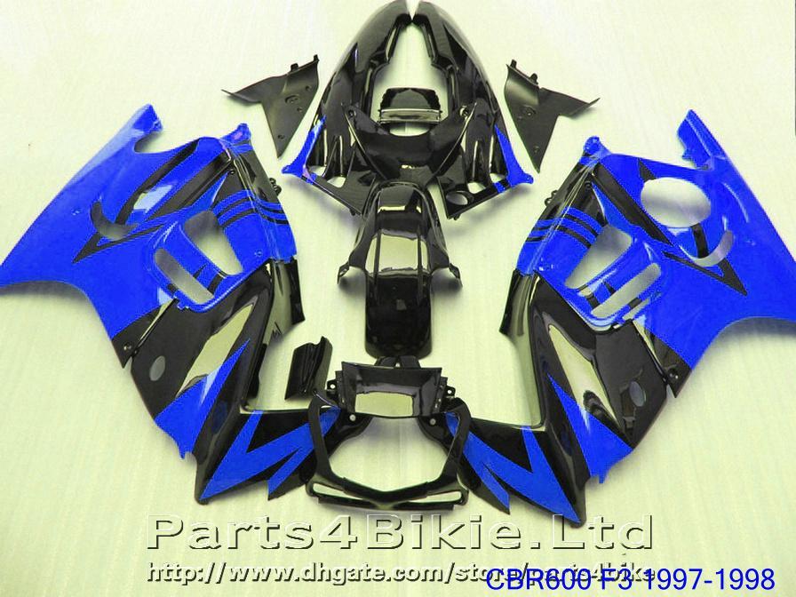 Dark blue High Quality Motorcycle fairing kit for Honda CBR 600 F3 CBR600F3 1997 1998 fairings parts CBR600 F3 95 96 VYSK