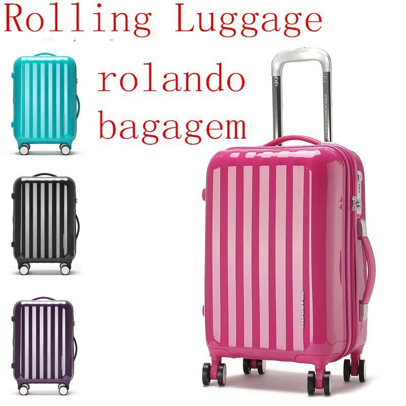 Hardside Rolling Luggage Wheeled Garment Travel Suitcase Fashion ...