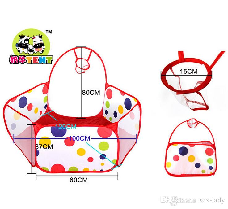 Children Kids Play Tents Foldable Kids Children Ocean Ball Pit Pool Game Play Toy Tent With a Shooting Basket