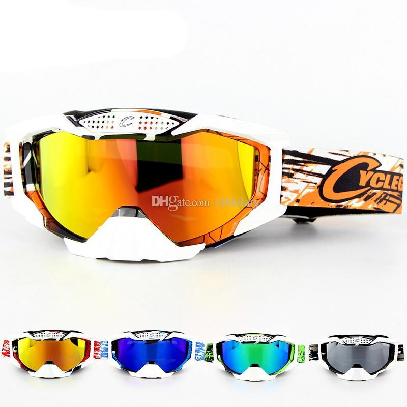 3d3f5684dd Compre 2018 Nuevo Ciclismo Gafas De Sol Gafas De Moto Gafas De Esquí Mujer  Hombre Motocross ATV Quad Off Road Gafas A Prueba De Viento Gafas MX A  $14.07 Del ...
